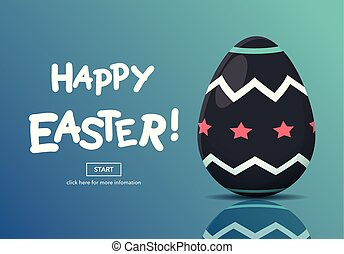 Horizontal Web Banners with Easter Concept