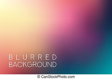 horizontal wide multicolored blurred background. Sunset and ...