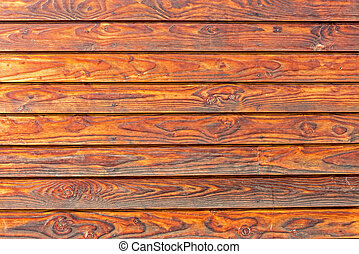 Horizontal wooden boards