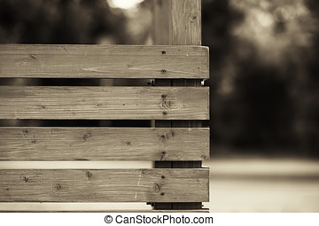 Horizontal wooden fence city background hd