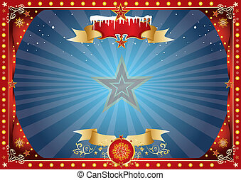 horizontal xmas background - A horizontal circus poster on...