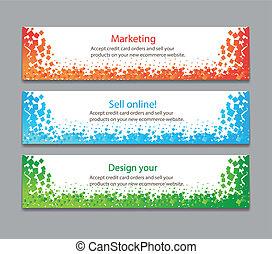 horizontale banners, kleurrijke