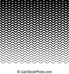 horizontalement, lignes, wavy-zigzag, -, parallèle, ...
