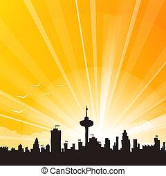 horizonte cidade, amarela