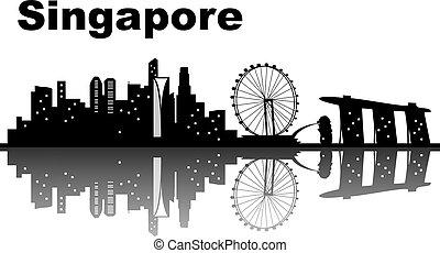 horizonte cidade, cingapura