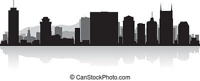 horizonte cidade, nashville, silueta