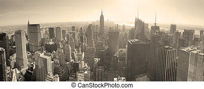 horizonte cidade, pretas, york, novo, branca