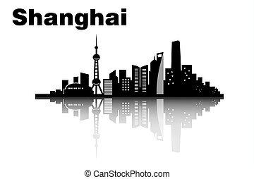 horizonte cidade, shanghai