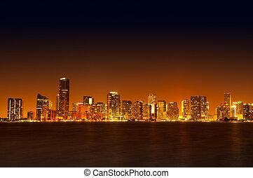horizonte de miami, noche