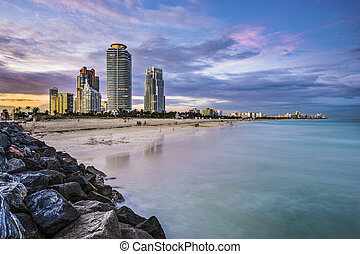 horizonte de miami, playa