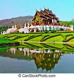 horkumluang, dans, chiang mai ressort, thaïlande
