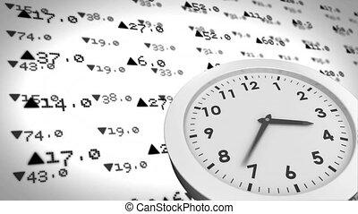 horloge, échange, contre, animation, stockage