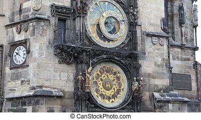 horloge astronomique, moyen-âge, prague