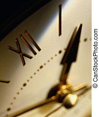 horloge, détail
