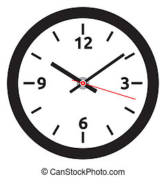 horloge, -, figure, tim, vecteur, facile, changement