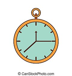 horloge, isolé, heure, icône