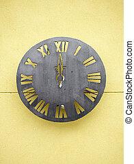 horloge, métallique