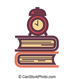 horloge, manuels, démodé, tas, mécanicien, reveil