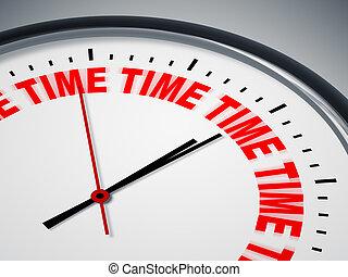horloge, mots, temps