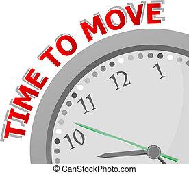 horloge, mouvement, figure, mots, temps, blanc, sien