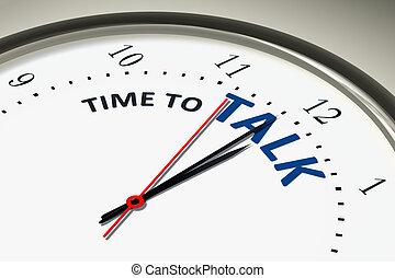 horloge, parler, temps