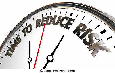 horloge, réduction, réduire, illustration, responsabilité, lisk, temps, 3d