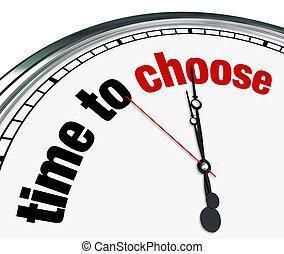 horloge, -, reminds, choisir, décider, temps