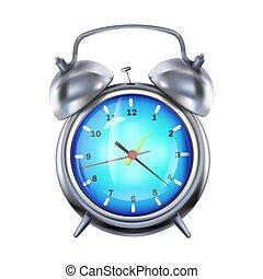 horloge, reveil, illustration, réaliste, vecteur, 3d