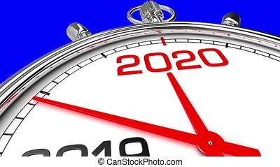 horloge, screen), année, 2020, nouveau, (blue