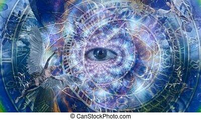 horloge, seeng, tout, astronomique, oeil