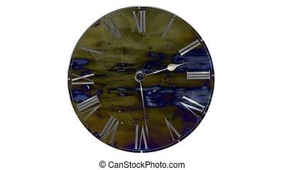 horloge, snel, go., de tijdspanne van de tijd, clock., vasten, vliegen, wolken