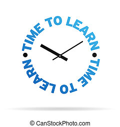 horloge, temps, apprendre