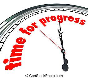 horloge, temps, innovation, en avant!, progrès, mouvement