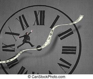 horloge, tendance, argent, figure, courant, croissant, homme...