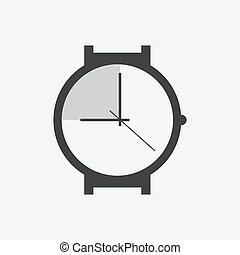 horloge, vector, -, illustratie