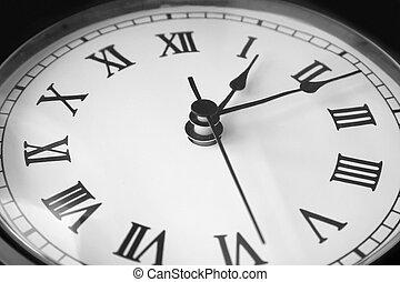 horloge, vieux, figure