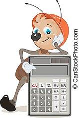 hormiga, calculadora, superintendente, exposiciones