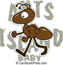 hormiga, ilustración