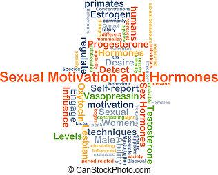 hormon, motivation, begriff, sexuell, hintergrund