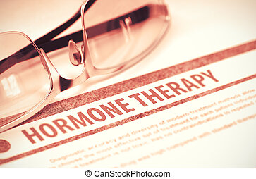 Hormone Therapy. Medicine. 3D Illustration.