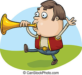 Horn Blowing Man