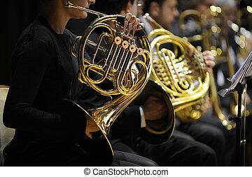 horn, fransk