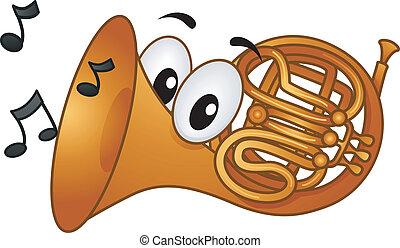 horn, fransk, mascot