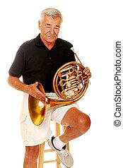 horn, fransk, senior