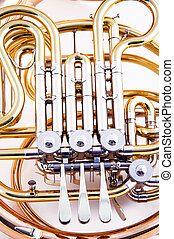 horn, hvid, isoleret, fransk