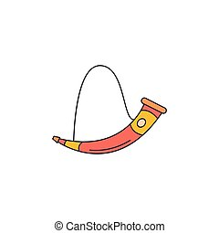 Horn icon, cartoon style