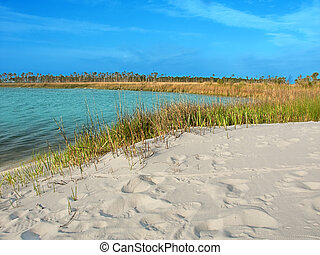 Horn Island Lagoon Mississippi - Lagoon on Horn Island of...