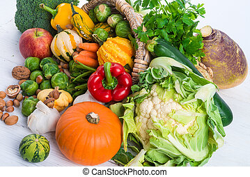 horn, med, grönsaken