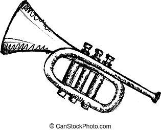 horn, musical instrument