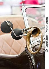 Horn of a classical car.